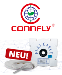 Neu im Sortiment: Die flexiblen Flachbandkabel von Connfly Electronic
