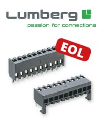 Last-Time-Buy: Abkündigung der Lumberg-Serien 2,5 MB und 2,5 MBPH