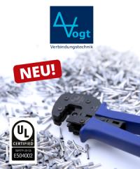 Neu im Sortiment: Aderendhülsen mit UL-Zertifikat von Vogt
