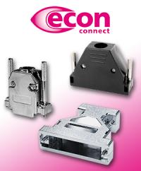 Für Ihre Kabelkonfektion: Die D-Sub Gehäuse von econ connect