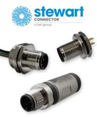 Stewart Connector bietet jetzt auch M12-Steckverbinder